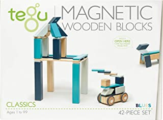 Tegu 42 件磁性木制积木套装 Blues
