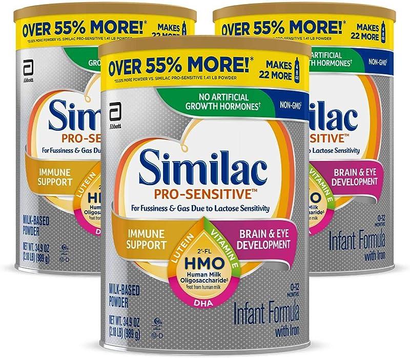 Abbott 美版雅培 Similac 心美力 Pro-Sensitive 含2′-FL HMO 1段婴幼儿防过敏配方奶粉 989g*3罐 镇店之宝¥507.19