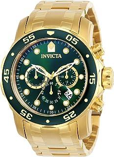 Invicta 0075 Pro Diver 男士计时码手表,18k镀金
