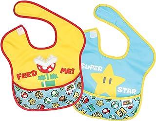 Bumkins DC Comics *围嘴,带披风图案 Super Mario - Feed Me 6-24 Month (Pack of 2)