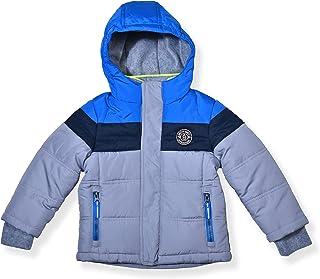 Arctic Quest 男童防风防水保暖连帽冬季雪地滑雪夹克,带拉链口袋