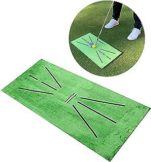 Starhig 高尔夫训练垫,挥杆检测击球迷你高尔夫练习训练辅助地毯,便携式高尔夫训练草皮垫适用于办公室家庭户外游戏礼品