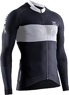 X-Bionic 男式 Invent 4.0 骑行赛拉链衬衫长袖 Maillot De Cyclisme Homme Vtt T