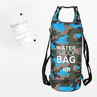SARHLIO 20L 防水干包男女防水手机壳轻质卷顶袋干燥储物袋适用于水上运动、游泳、划船、皮划艇、露营、海滩