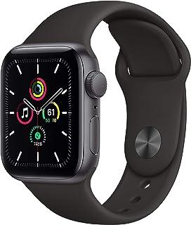 新款 Apple Watch SE (GPS,40mm) - 太空灰色铝制表壳,黑色运动表带
