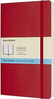 Moleskine 软面虚线猩红色笔记本 (大型)