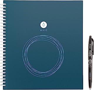 "Rocketbook 微波智能可消字环保笔记本配Pilot Frixion笔一支标准尺寸 (8.5\"" x 9.5\"") 蓝色 (WAV-S)"