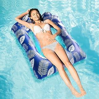 泳池漂浮,充气泳池漂浮,配有 4 合 1 多功能(座位、躺椅、吊床、漂移)泳池吊床,夏季游泳池筏,便携式水吊床