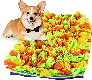 狗狗鼻罩垫 宠物玩具 Sniff 食物喂食器 刺激* 丰富刺激 Sniffle 小小狗 觅食 根碗 旅行 * 心灵分配器 * 黄色 长方形