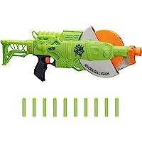 NERF Zombie Strike 食尸鬼研磨器玩具枪 -- 旋转 10 发轮,10 个官方僵尸攻击精英软头弹…