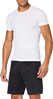 Odlo 立方男式短袖圆领 T 恤汗衫,男式, unterhemd 衬衫短袖圆领立方2件装,黑檀色