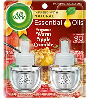 Air Wick 芳香油 2 替换装,南瓜香料,空气清新剂 Warm Apple Crumble 2 Refills