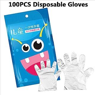 micia luxury(美西亚奢华)儿童塑料手套 一次性100片装 透明 保护 21x11cm 4岁~