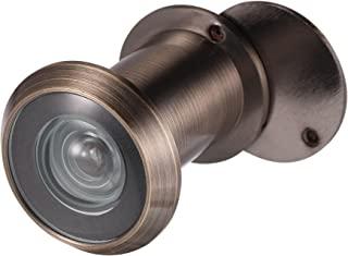uxcell 黄铜门观赏器 220 度带旋转盖,适用于 35-60 毫米门,古铜饰面