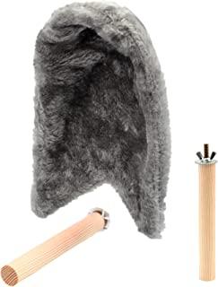 Alfie Pet - Beckett 3 件套舒适边角羊毛鸟毯和天然木栖息地 - 颜色:灰色,尺码:S 码