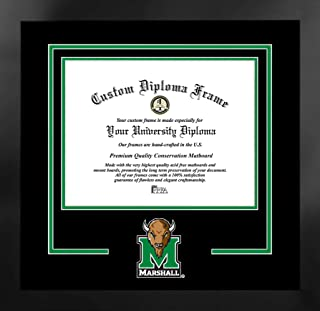 Campus Images NCAA 毛毛雷霆牧羊犬中性款精神文凭曼哈顿黑框附赠平版版画,黑色,均码