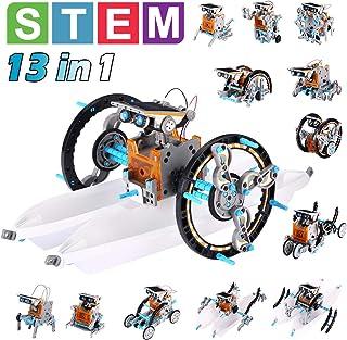 Pakoo 太阳能机器人玩具 STEM 玩具 13 合 1 科学套装儿童 DIY 教育学习科学构建玩具,STEM 项目,适合 8-12 岁男孩和女孩