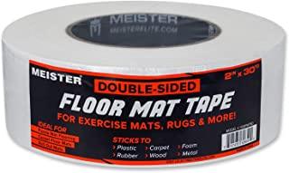 Meister 双面 5.08 厘米地板垫带 - 固定运动垫和地毯
