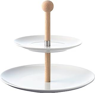 LSA International Dine 多层蛋糕架和橡木茎,9.75 英寸