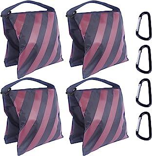 超重型 ABCCANOPY 沙包 Saddlebag 设计 4 个重量袋 适用于照片视频工作室支架 后院 户外天井 运动(酒红色)