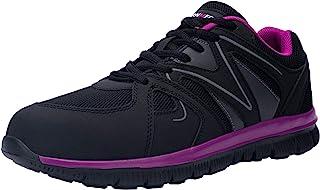 LARNMERN 女式钢头鞋 *工作运动鞋 轻质工业和建筑鞋