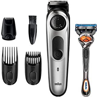 BRAUN 博朗 胡须修剪器 BT5265,男士理发器,无绳,可充电,迷你箔剃须刀,带有 Gillette ProGlide 剃须刀