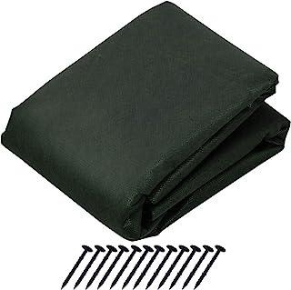 ASTRO 园艺用防草座椅变装 *刺青的杂草 有良好的透水性不易积水 只需铺上就能简单·不需要*,安心 切勿剪开 1×10m+ピン12本 グリーン