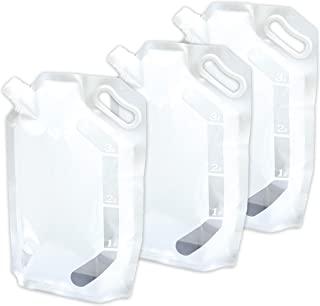 APOOS 爱普生 供水袋 应急防灾 便携 可折叠 水袋 3升(女性 容易搬运 尺寸) 3件套 7336 * 3