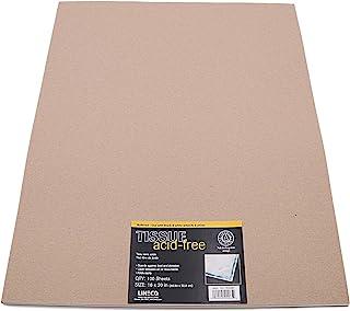 Lineco 缓冲无酸交织纸,16x20,一包 100 张。延长纸张、照片、纺织品和工艺品的使用寿命。用于照片、黑白、彩色、专辑打印。