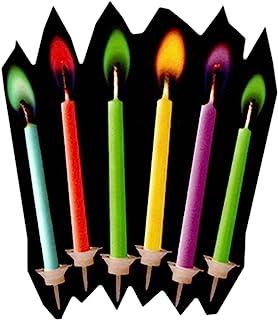 DDL 变色火焰 彩虹蜡烛 蜡烛 6支套装 6种颜色(生日、惊喜、SNS展示)