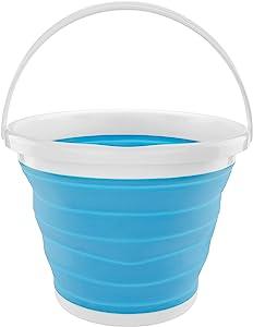 Southern Homewares 硅胶可折叠 2.65 加仑(约 2.6 升)折叠桶蓝色
