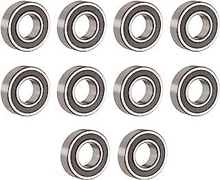 R1038-2RS 精密微型滚珠轴承 3/8 英寸 x 5/8 英寸 x 5/32 英寸深槽滚珠轴承,两侧橡胶密封和预润滑润滑油