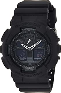 Casio G-Shock Men's Watch in Resin with Anti Slip Over Sized Buttons - Water Resistant & Anti Magnetic