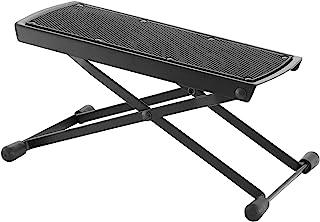 World Rhythm 吉他脚凳 - 黑色折叠脚托,吉他脚踏板