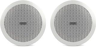 Audibax   吸顶扬声器 CM508L-BT   白色吸顶扬声器 蓝牙 5.25 英寸安装   功率 20W + 20W   颜色:白色   金属网格