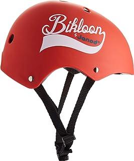 Janod - Bikloon - 红色自行车头盔和平衡自行车儿童头盔 - S 码可调节 47-54 厘米 - 11 个通风孔 - 适合 3 岁以上儿童,J03270