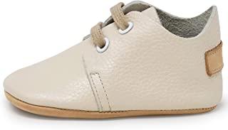 Ella Bonna Oxford 男婴鞋,橡胶软底,皮革婴儿鞋,幼儿女孩婴儿散步鞋,新生儿迷你儿童婴儿床婴儿软帮鞋