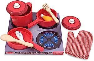 Melissa&Doug 美丽莎和豆豆 DIY过家家木质玩具 厨房用具套装