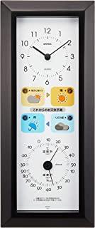 EMPEX 气象计 温度湿度计 晴天预报 带天气预报功能 壁挂式 日本制造 黑色 BW-5038