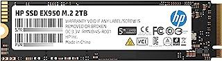 HP 惠普 EX950 M.2 2TB PCIe 3.1 x4 NVMe 3D TLC NAND 内置固态硬盘 (SSD) 5MS24AA#ABC