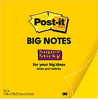 Post-it *粘性*签纸,27.94 厘米 x 27.94 厘米,1 张,30 张/张 (BN11) - 6 件装