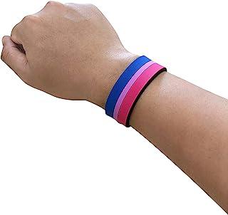 Ibestbuysell Gay Lesbian LGBT pride 彩虹橡胶手腕带