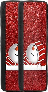 LJMKZJN 2 件圣诞冰箱门把手盖圣诞老人雪人门把手盖圣诞厨房用具盖圣诞冰箱微波炉洗碗机手柄装饰