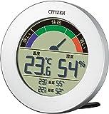 CITIZEN 西铁城 电子温度·湿度计 D67B 铝制外壳 银色 8RDA67-B19