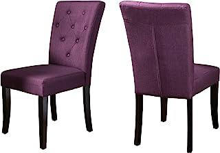 Christopher Knight Home Nyomi 织物餐椅,深紫色