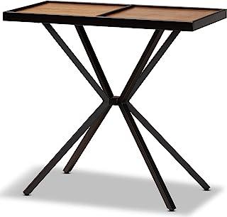 Baxton Studio 173-11011-AMZ 控制台桌 胡桃木/黑色