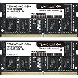 TEAMGROUP Elite 16GB 套件 (2 x 8GB) DDR4 2400MHz (PC4-19200) C…