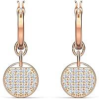 SWAROVSKI 女式姜玫瑰金色抛光项链和耳环透明水晶珠宝系列