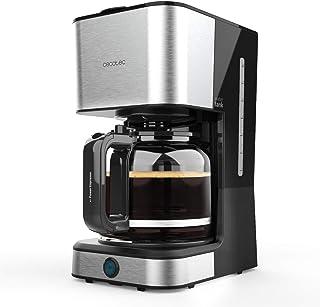 Cecotec Coffee 66 Heat 过滤式咖啡机 1.5 升 950 W 耐热水壶,剂量勺,Exteme Aroma 永久过滤器,加热板自动关机,不锈钢,无胶囊,黑色金属