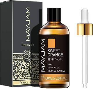 MAYJAM 甜橙精油 100 毫升 / 3.38 液体盎司/Z 优质甜橙精油 适用于芳香*扩散器 DIY 肥皂蜡烛制作